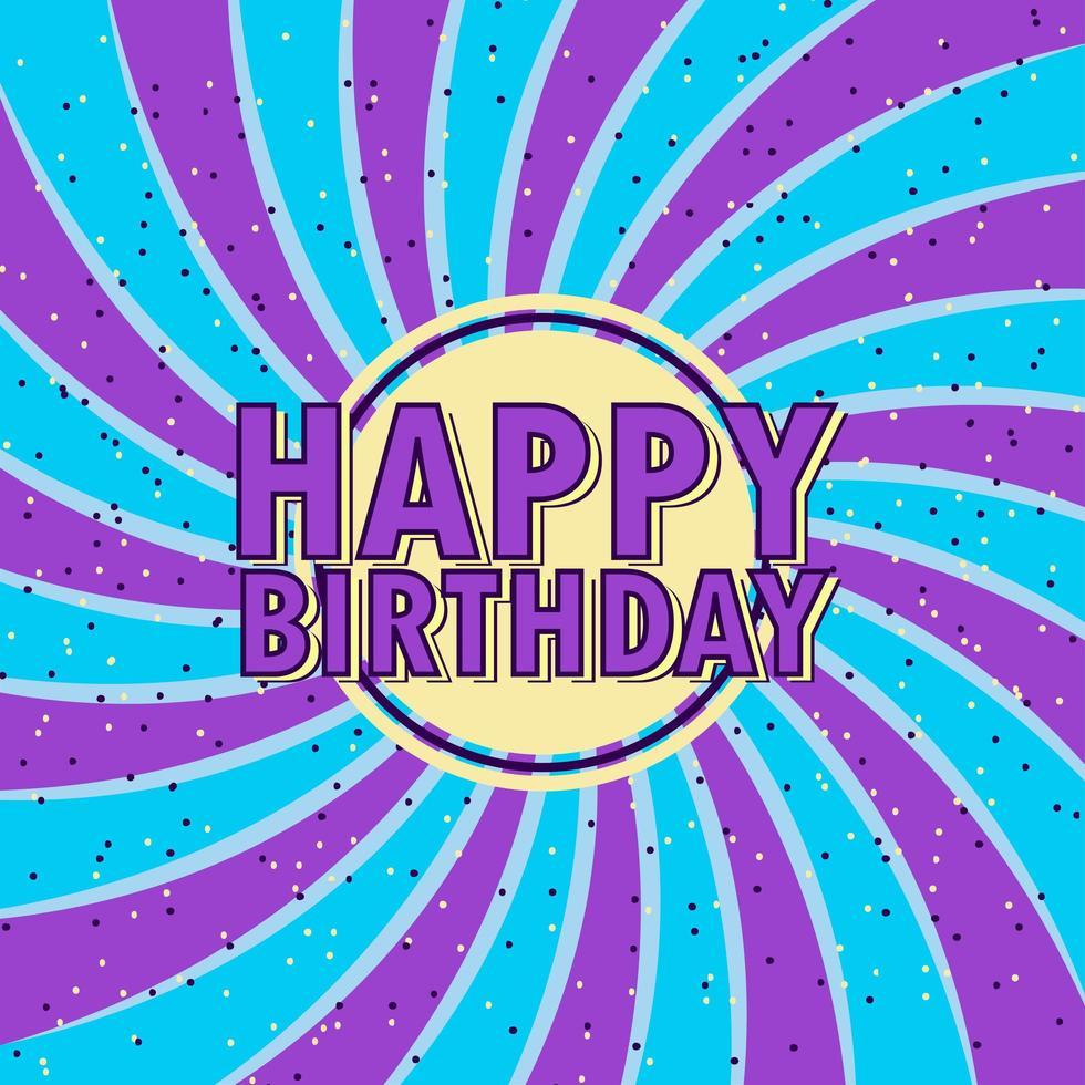 Fondo de confeti de remolino `` feliz cumpleaños '' vector