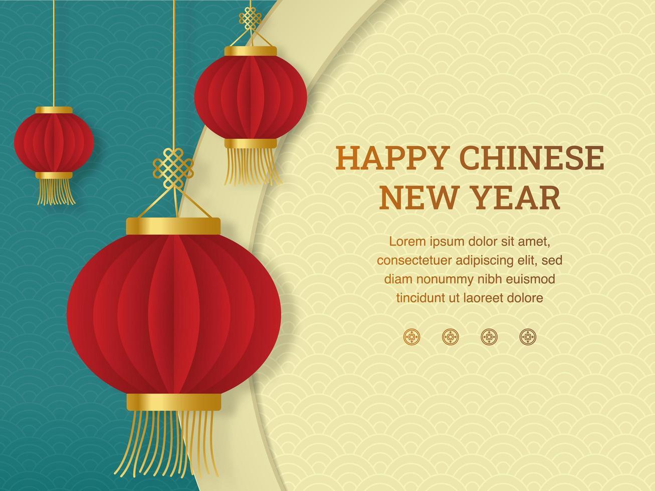 linterna de año nuevo chino vector