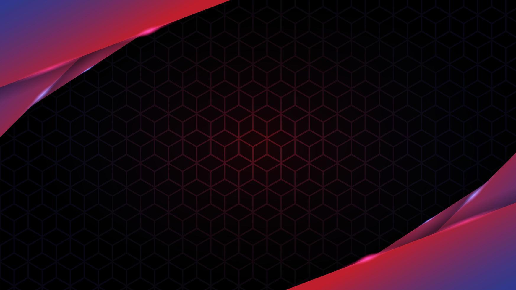 dégradé brillant couches angulaires en couches sur le modèle de cube vecteur