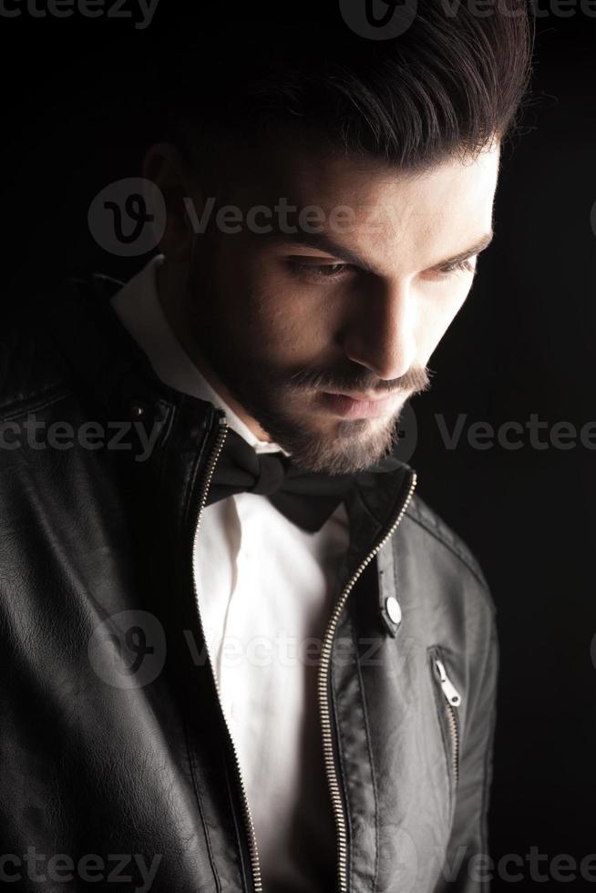 fashion business man looking down photo