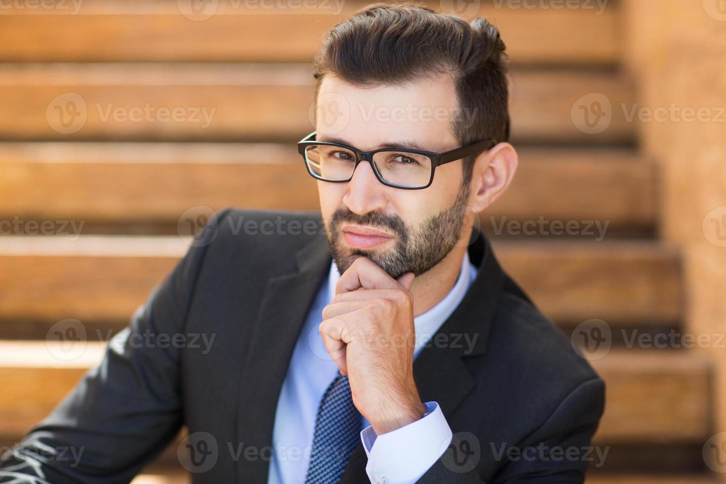 Portrait of Confident Young Businessman photo