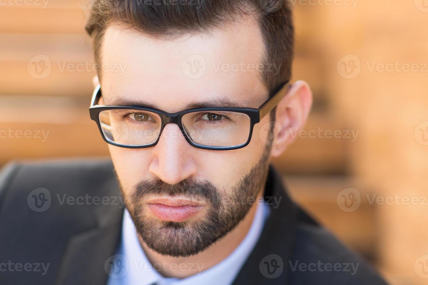 Closeup View of Young Businessman photo