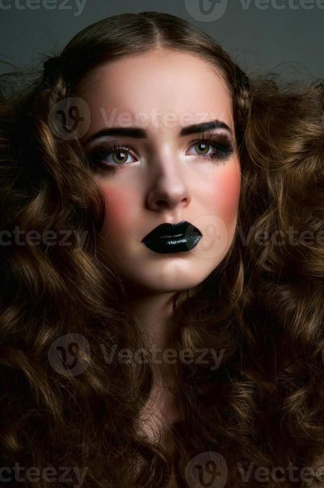 Beauty concerned girl photo