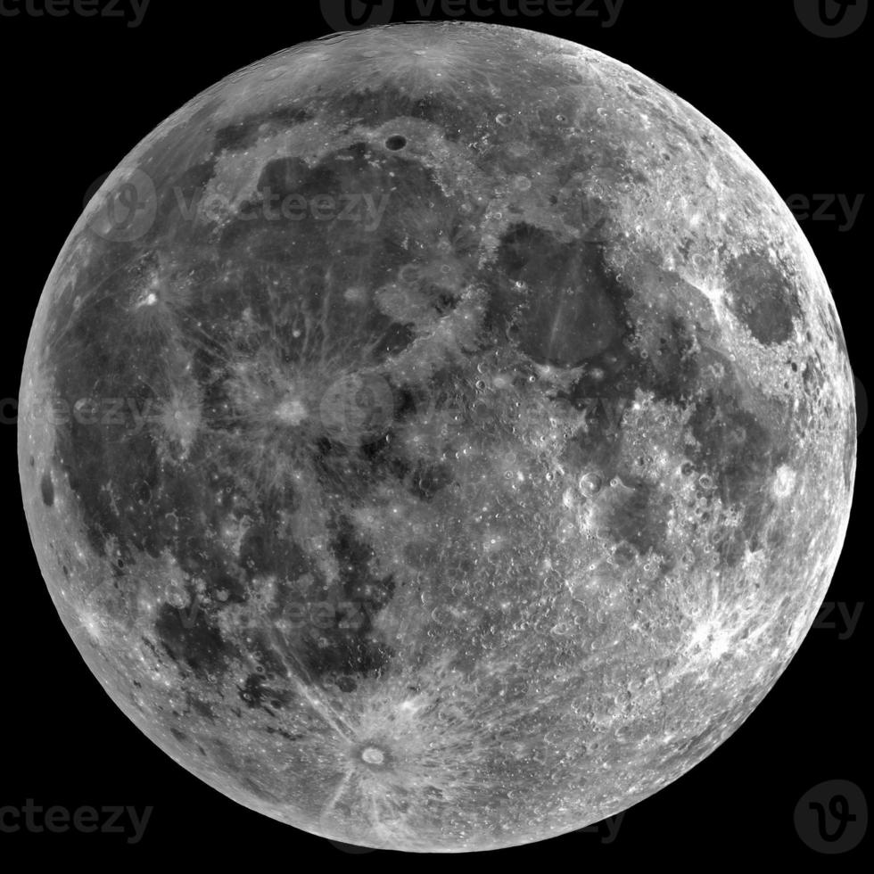 luna - aislada en negro foto