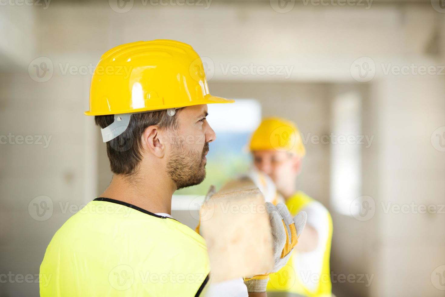 trabajadores de la construcción foto