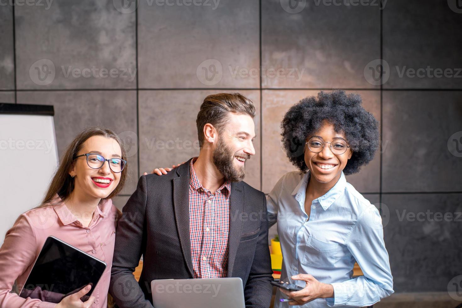 Portrait of multi ethnic coworkers photo