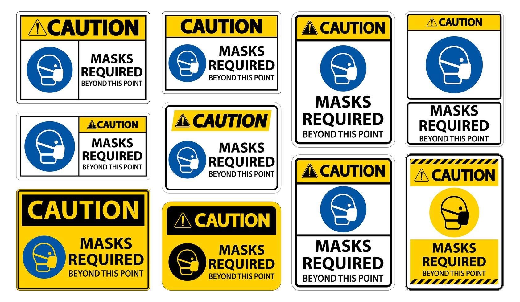 maschere richieste oltre questo segno vettore