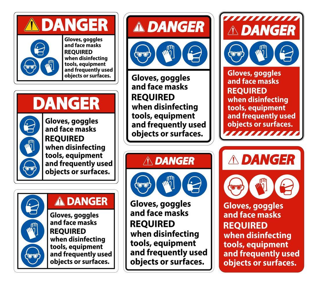 pericolo, segno richiesto maschere vettore