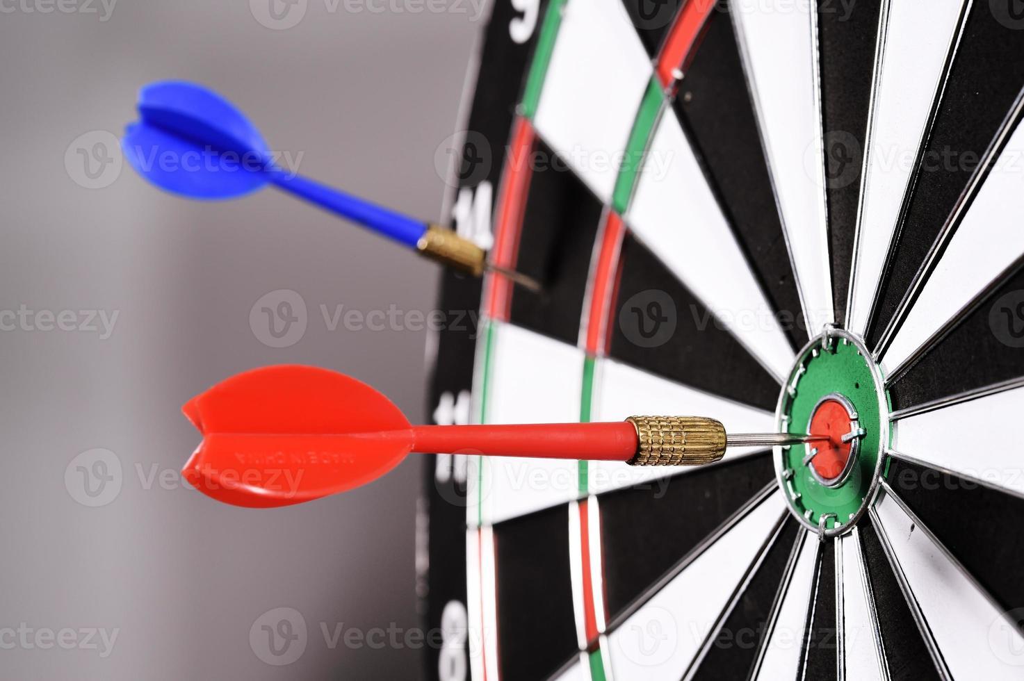 Dartboard with darts photo