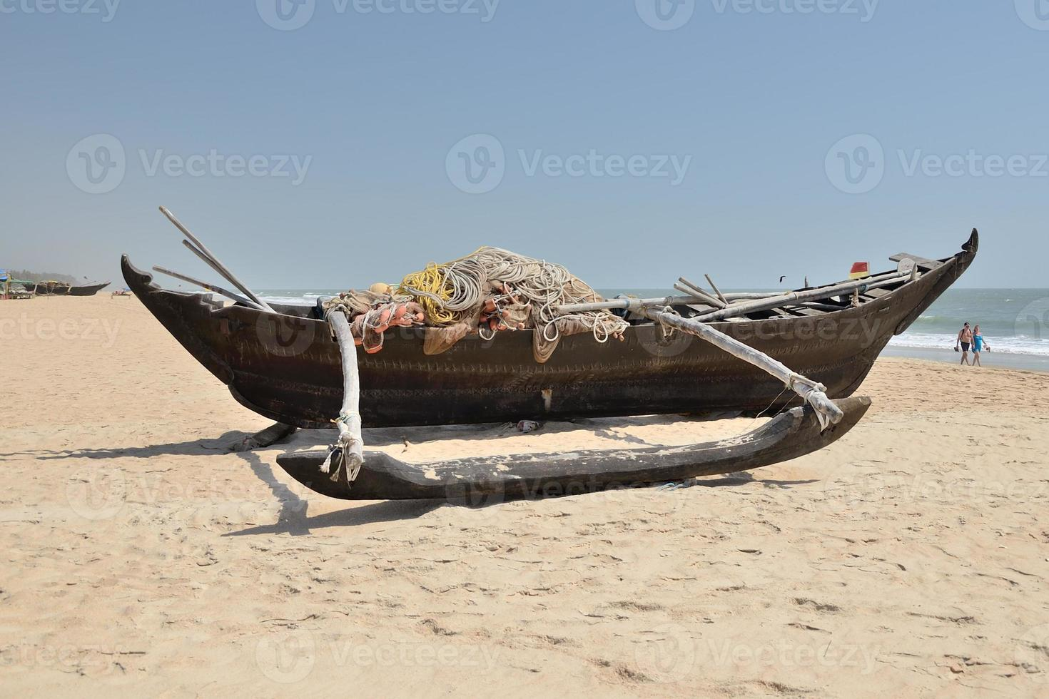 Traditional indian fishing boat. photo