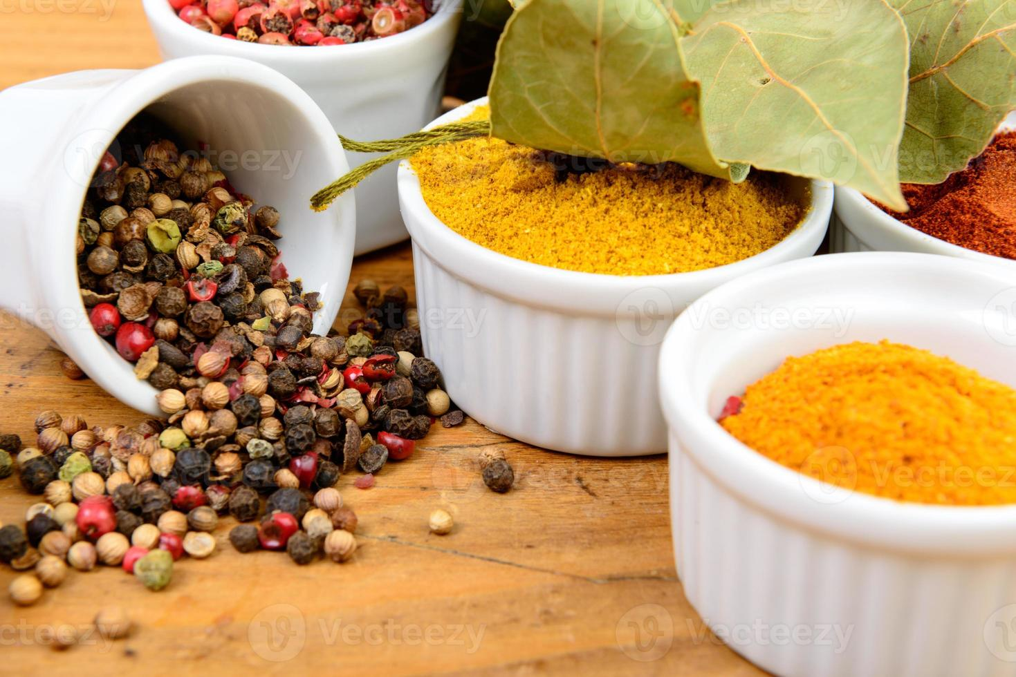 assortment of Indian spices photo