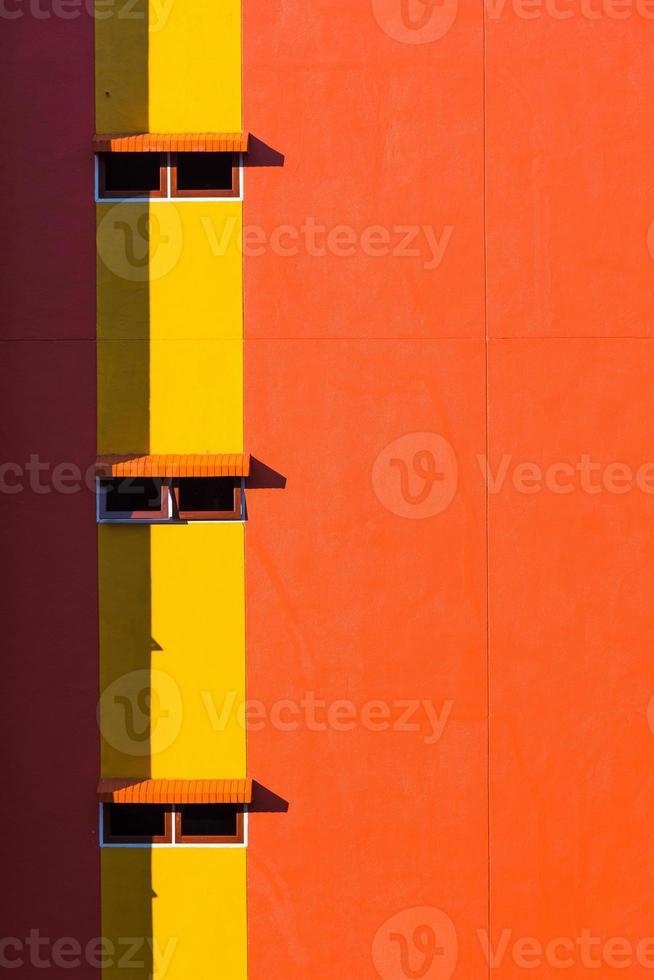 Orange wall and windows photo