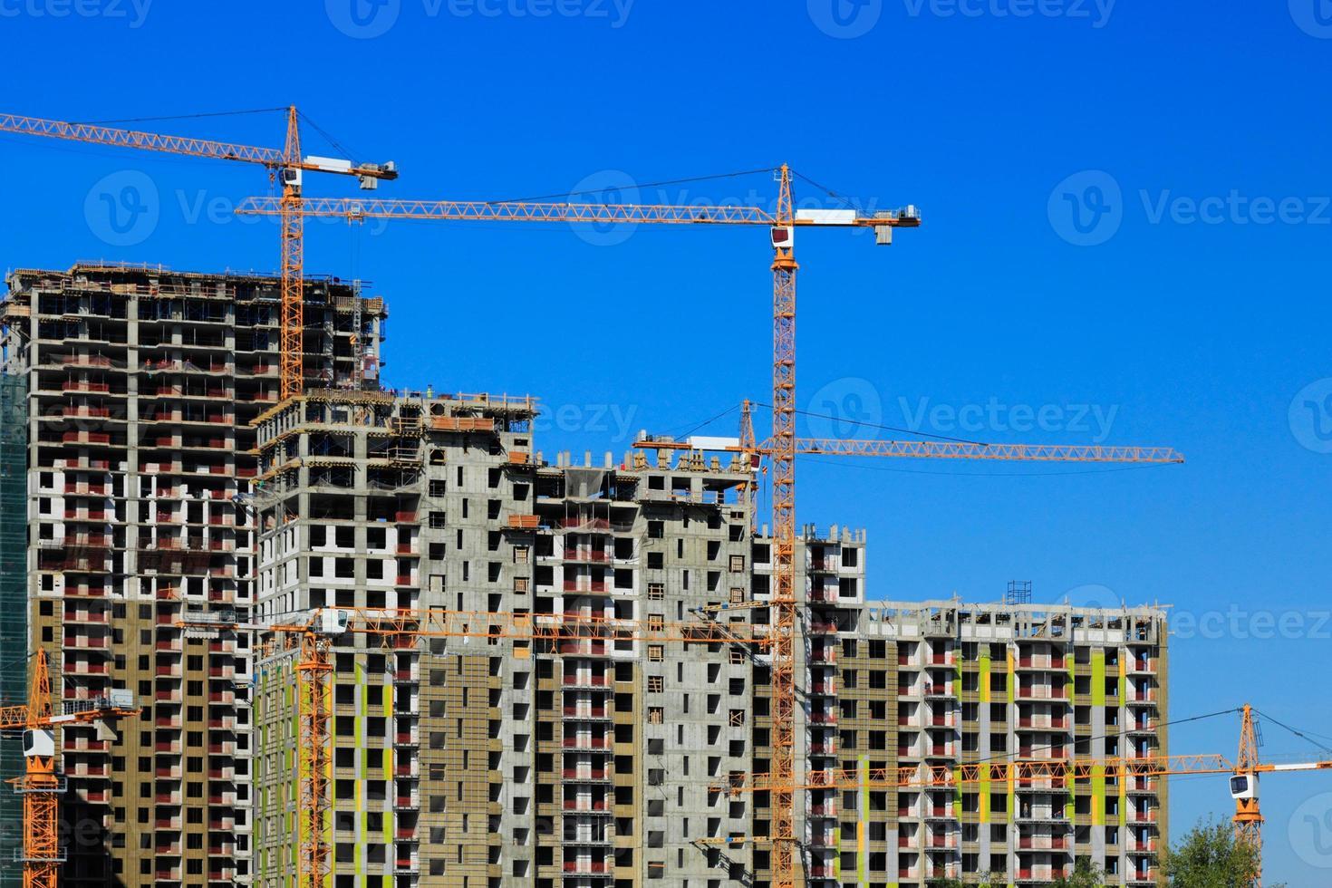 apartments buildings construction photo