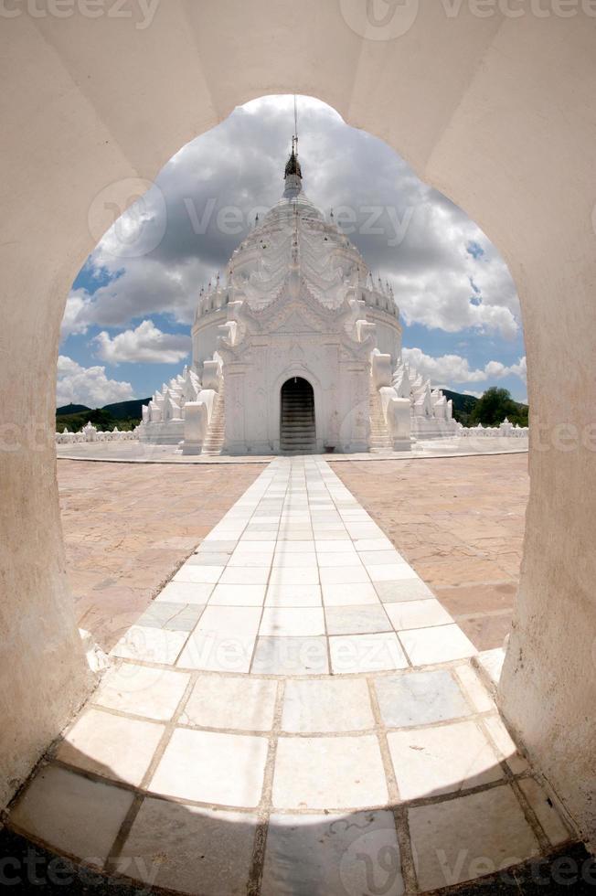 Hsinbyume Pagoda in Myanmar. photo