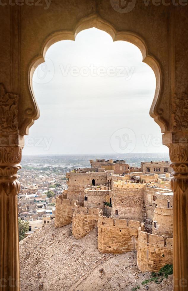 vista del fuerte de jaisalmer foto