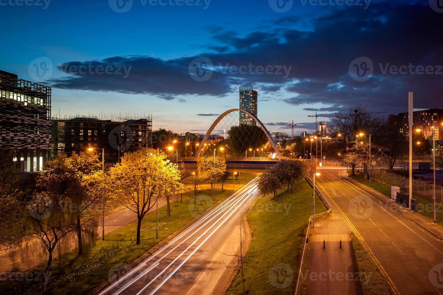 Arch bridge Manchester photo