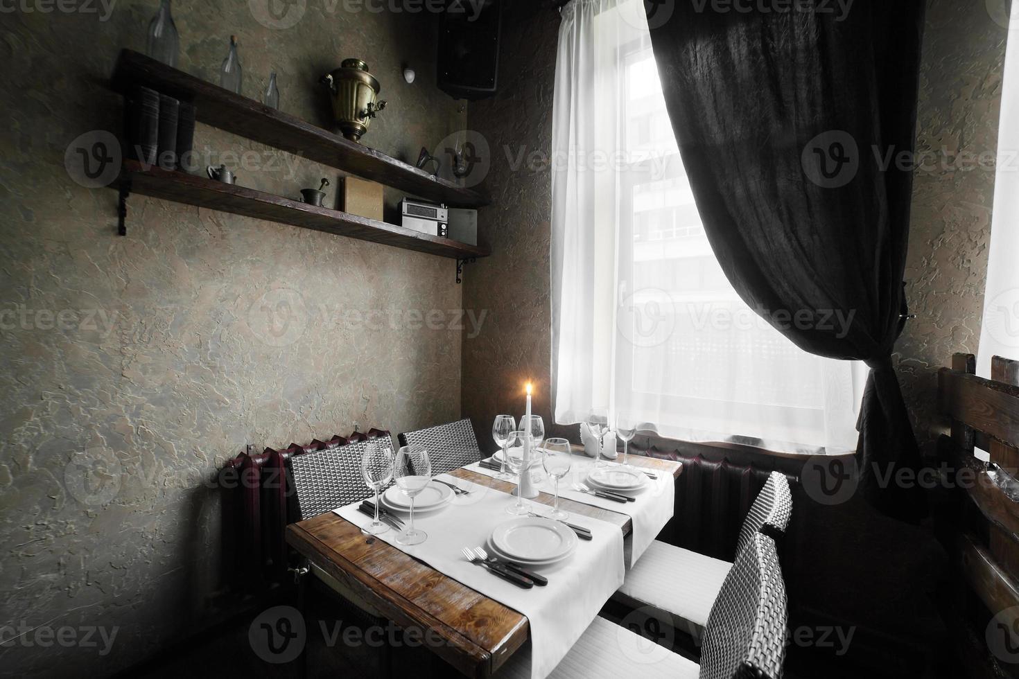 restaurante europeo en colores vivos foto