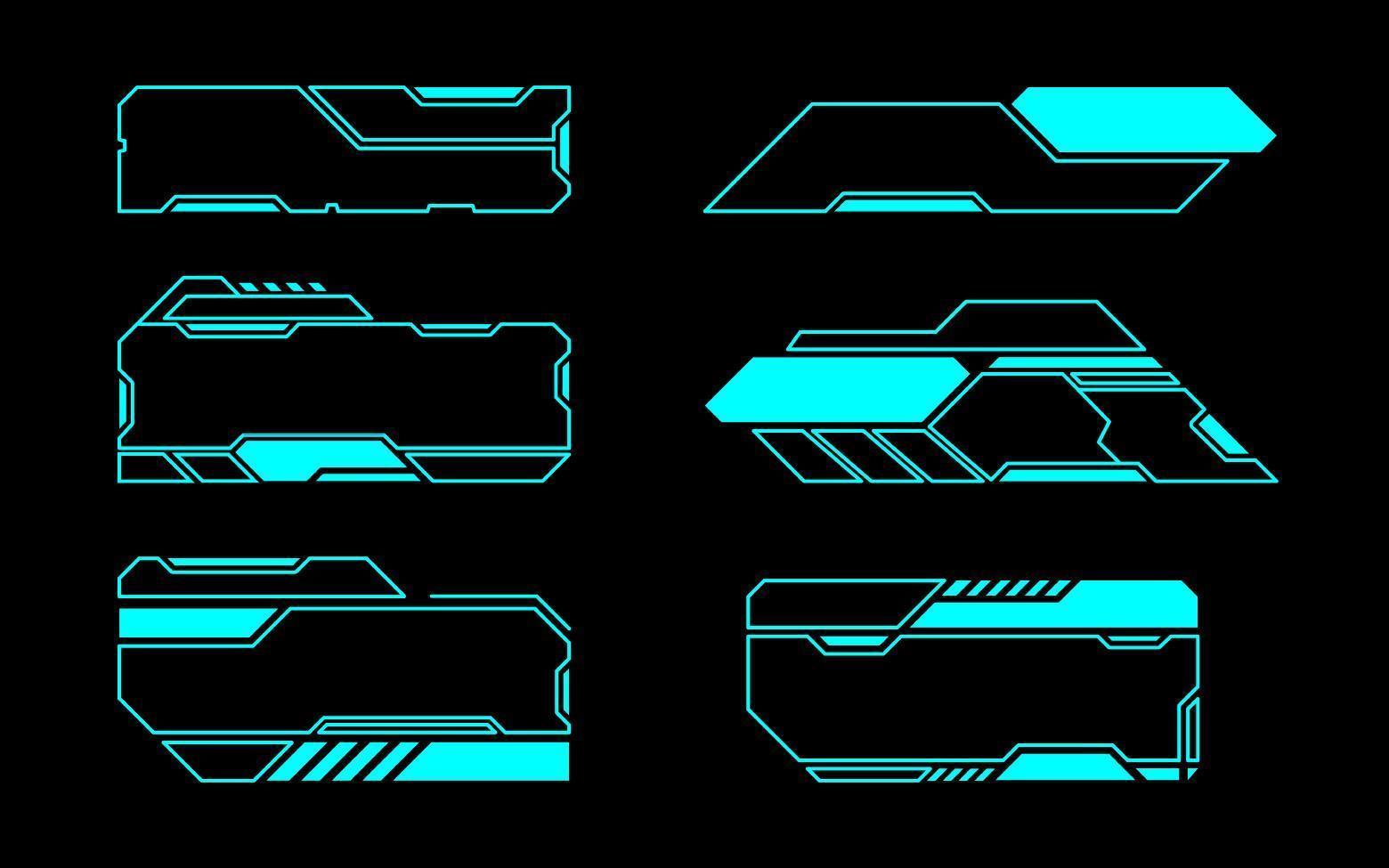 conjunto de marcos geométricos angulados de interfaz futura vector