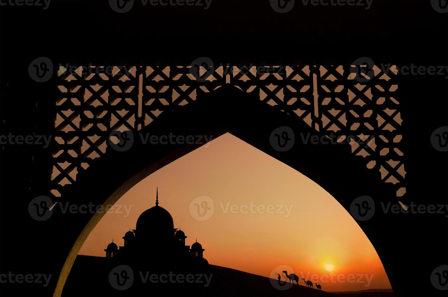 mosque during ramadan month photo