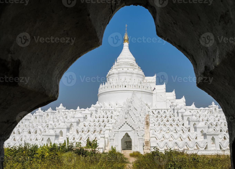 Mingun white pagoda in Myanmar photo