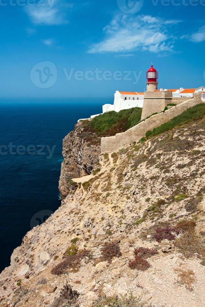 St. Vincent Cape and lighthouse, Algarve, Portugal. photo
