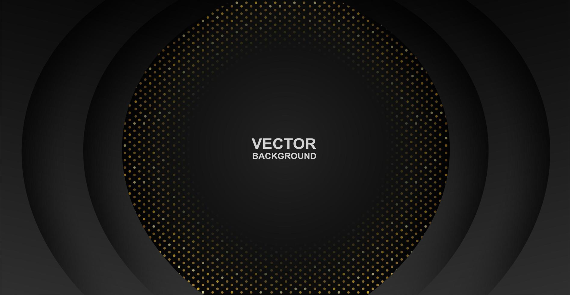 Abstract Overlapping Circles Black Background  vector