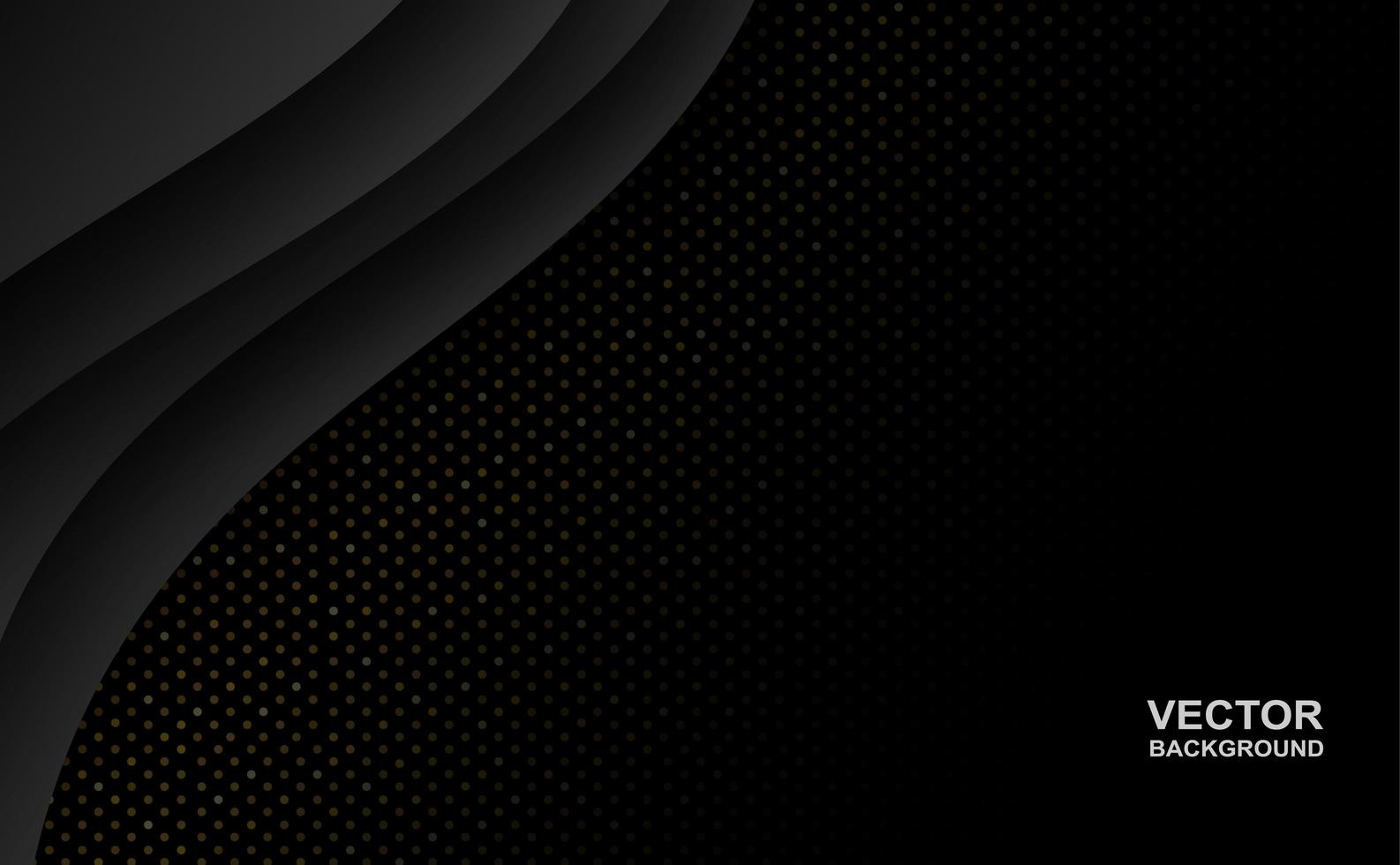 Abstract Black Overlapping Curve Shape Background  vector