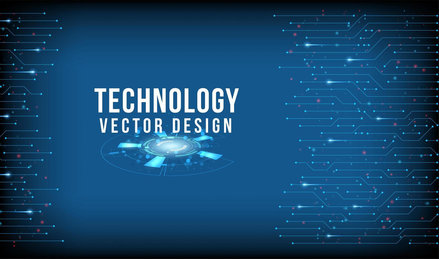 design a tecnologia blu con bordi collegati vettore