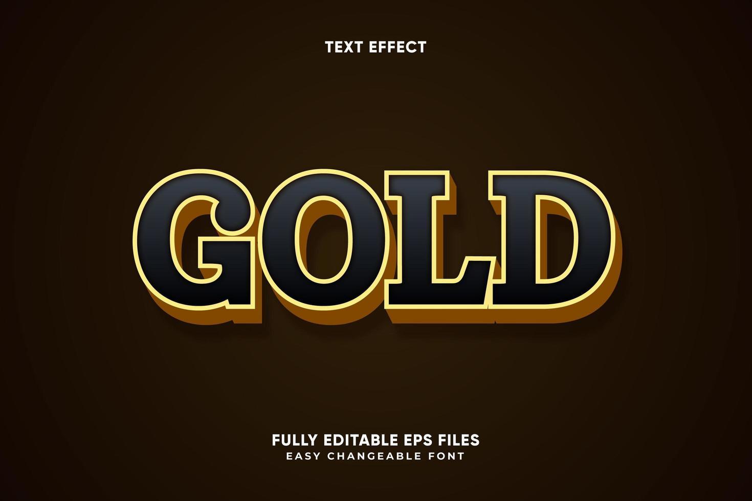 efecto de texto de oro editable vector