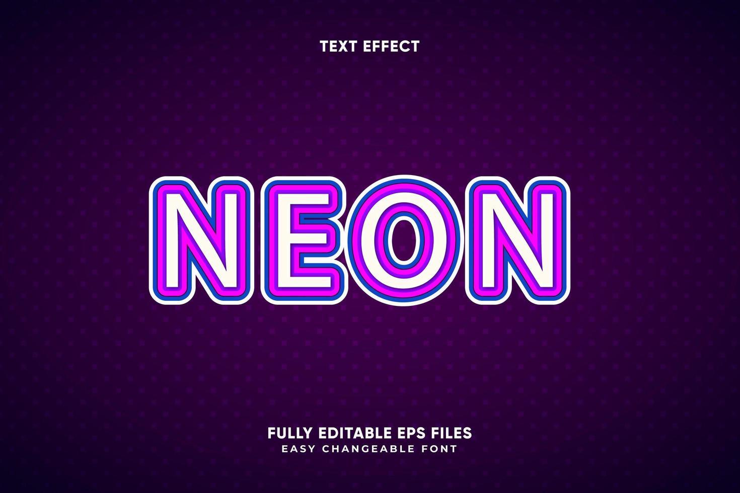 effetto di testo al neon modificabile vettore