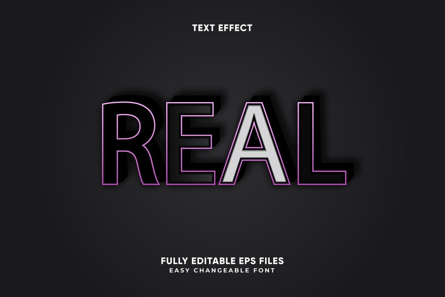 effetto di testo reale modificabile vettore
