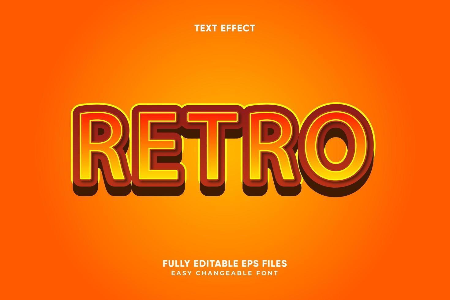 efecto de texto retro editable vector