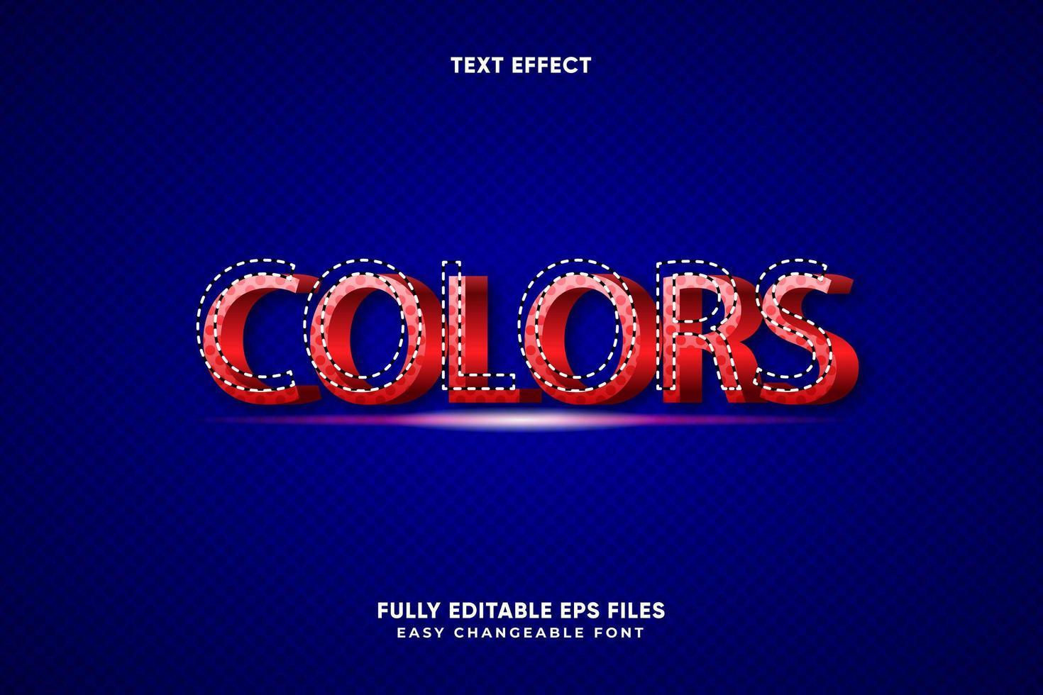 colori modificabili effetto testo vettore