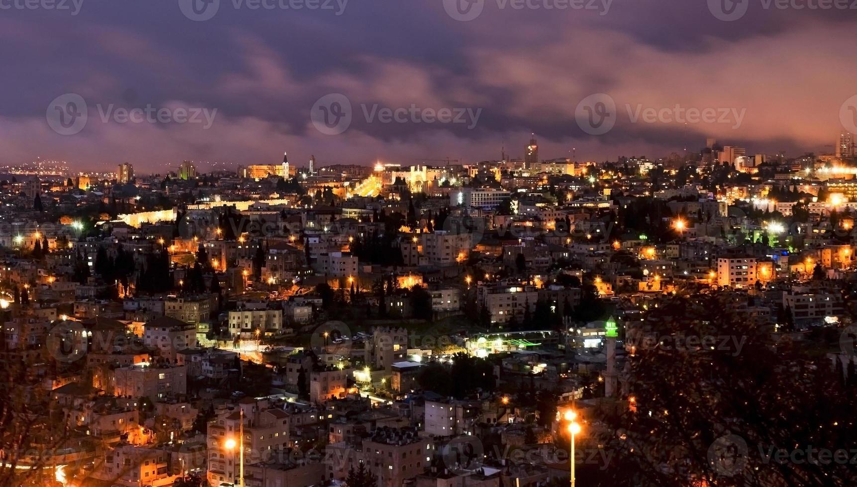 Jerusalem, Israel - night view photo