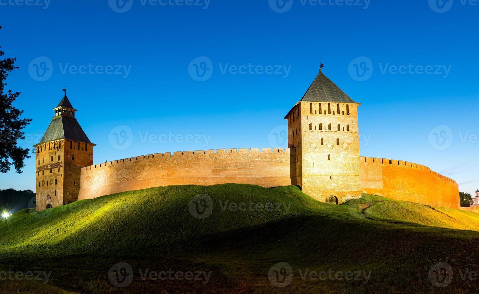 The Kremlin walls in Novgorod the Great photo