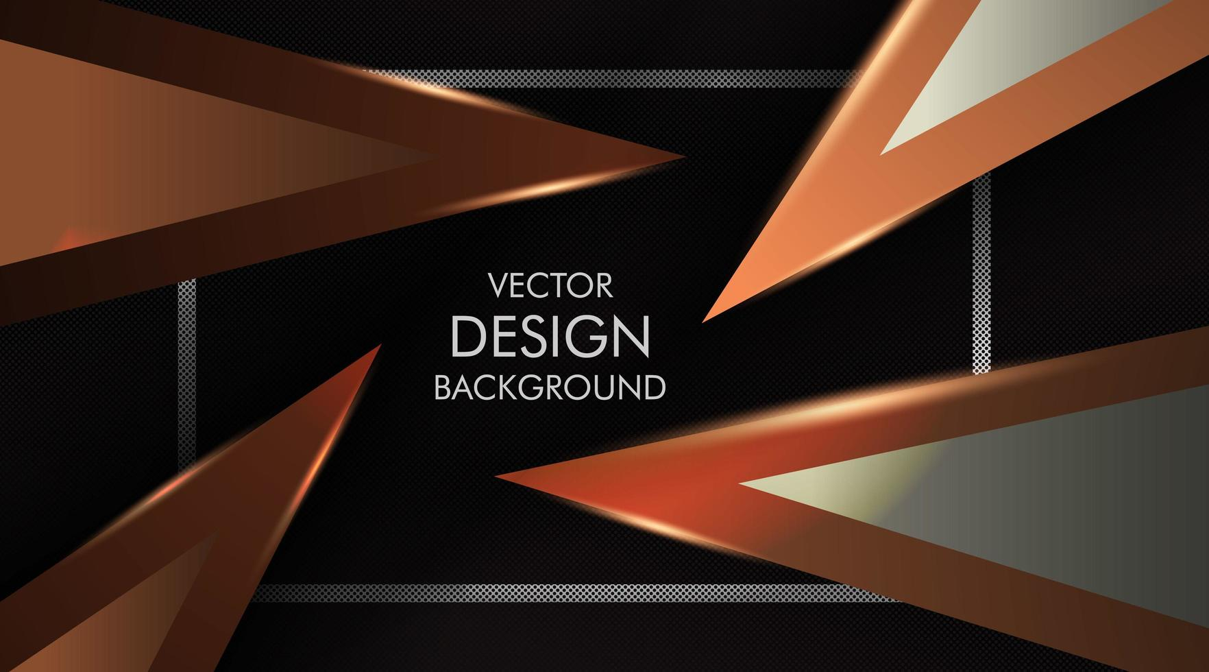 braune Dreiecke auf schwarzem Hintergrund vektor