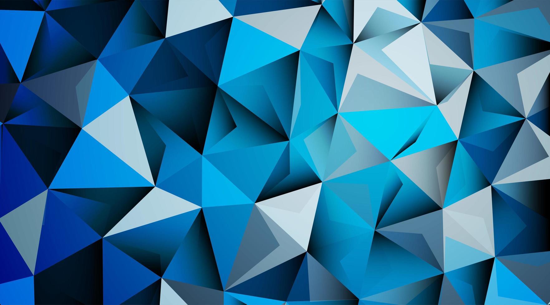 abstrakter Hintergrund des Dreiecksmusters in blau vektor