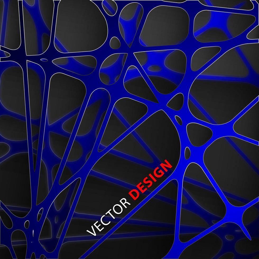 abstrakte dunkelblaue Linien, die 3d Grafikpapierhintergrund überlappen vektor