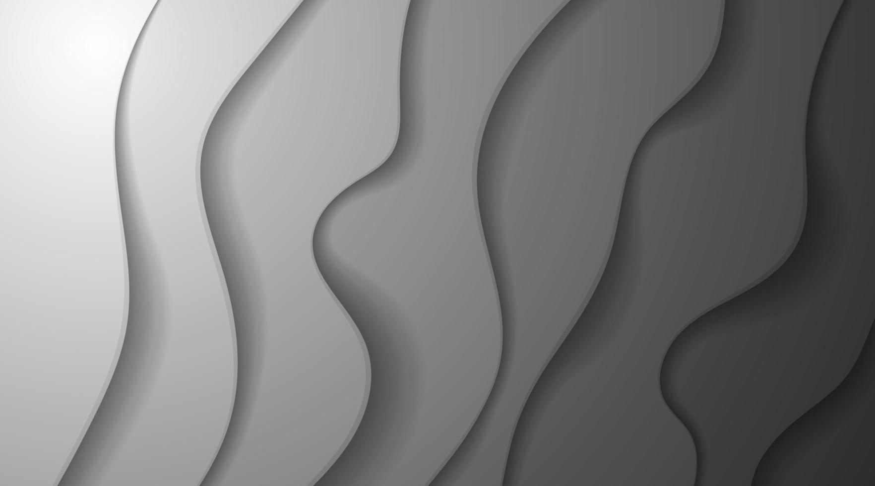 grauer Hintergrund der abstrakten Farbverlaufsüberlappungskurvenschicht vektor