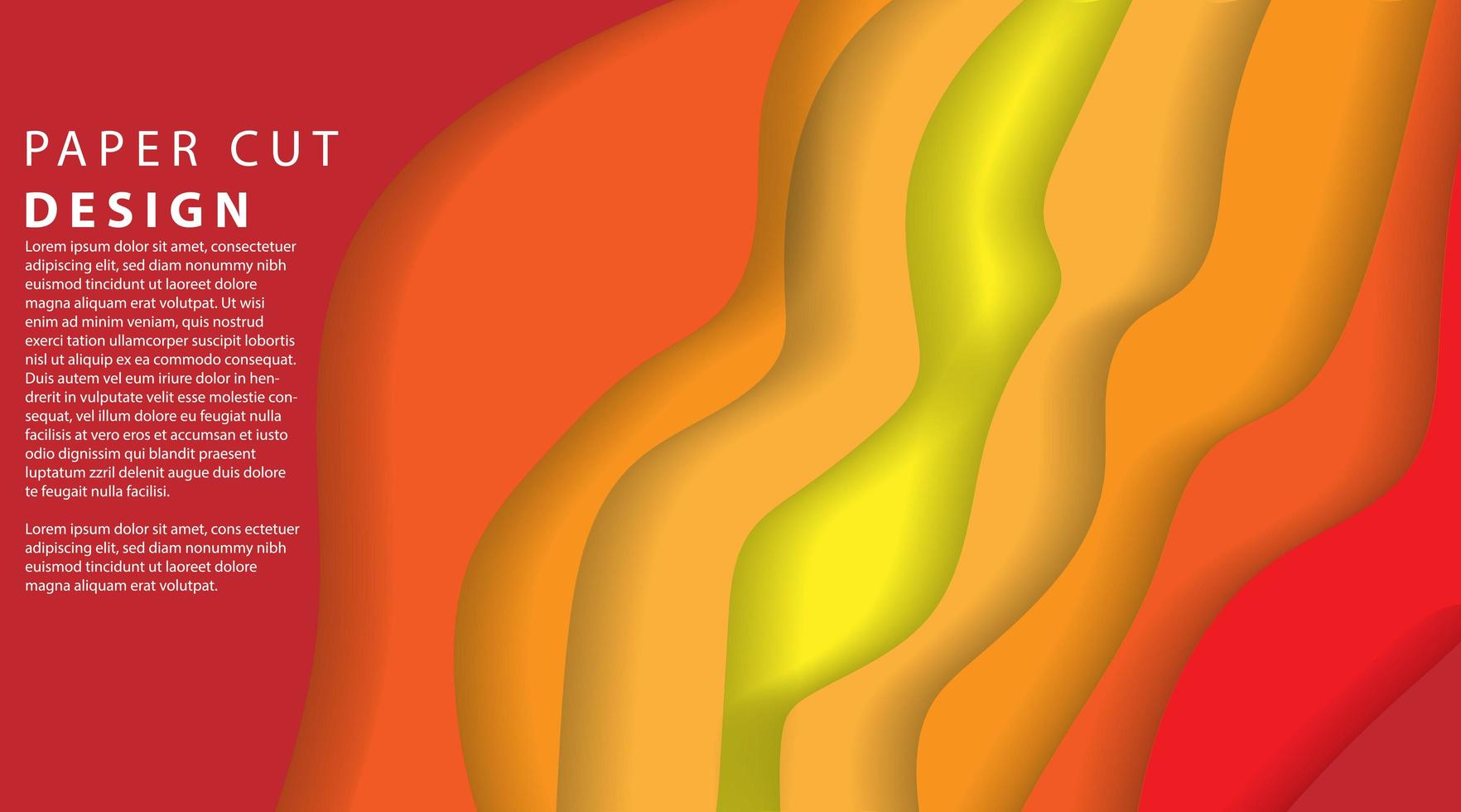 Papierschnitt mehrere Schichten 3D-Farbtextur Hintergrund vektor