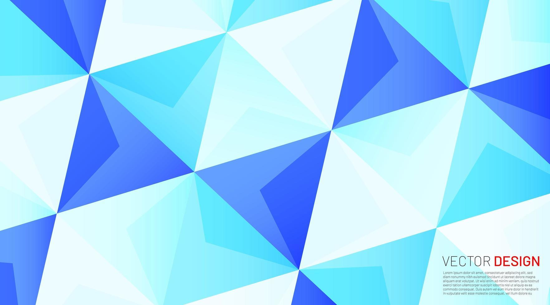 Fondo geométrico azul claro triangular vector