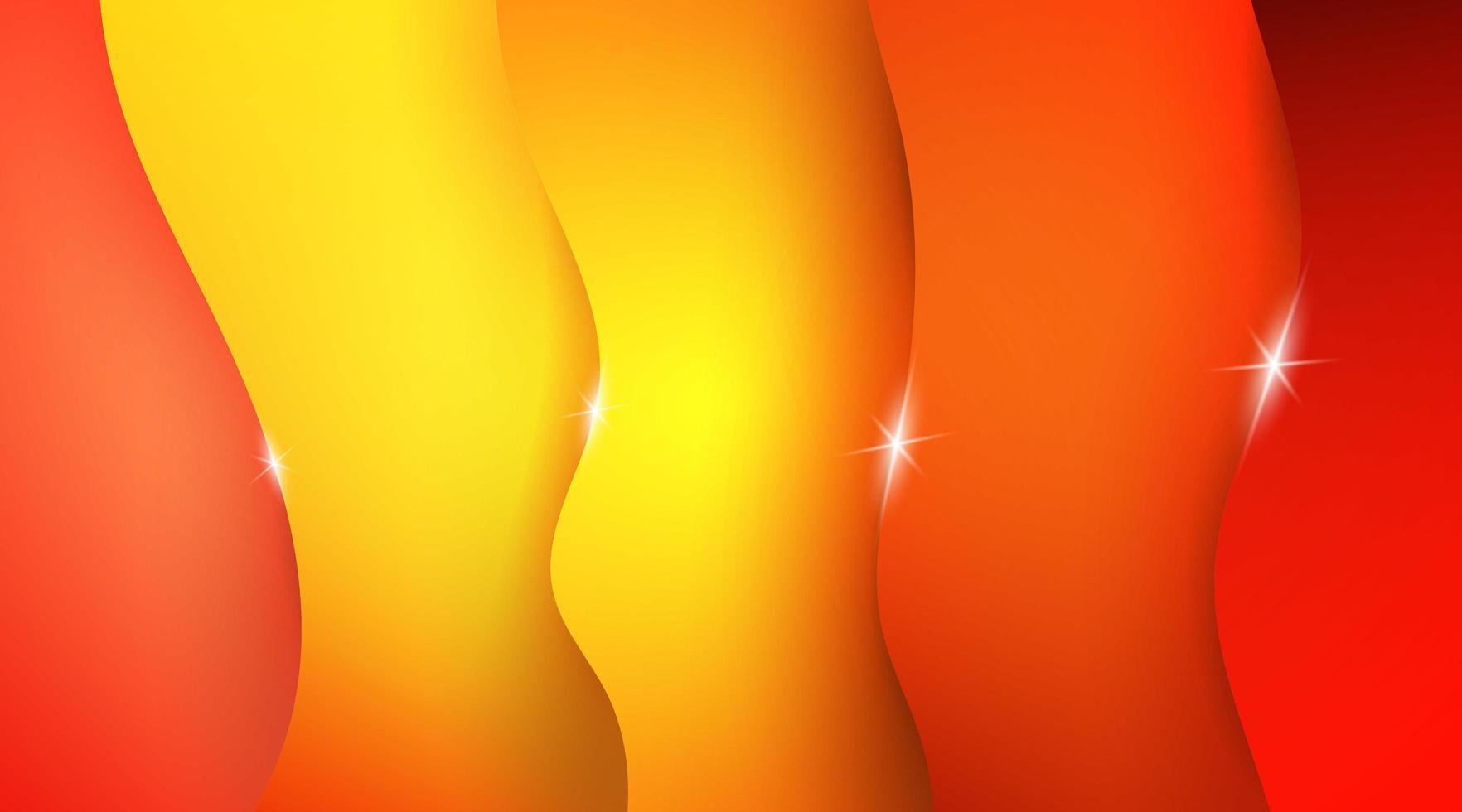 abstrakter orange und gelber Wellenhintergrund vektor