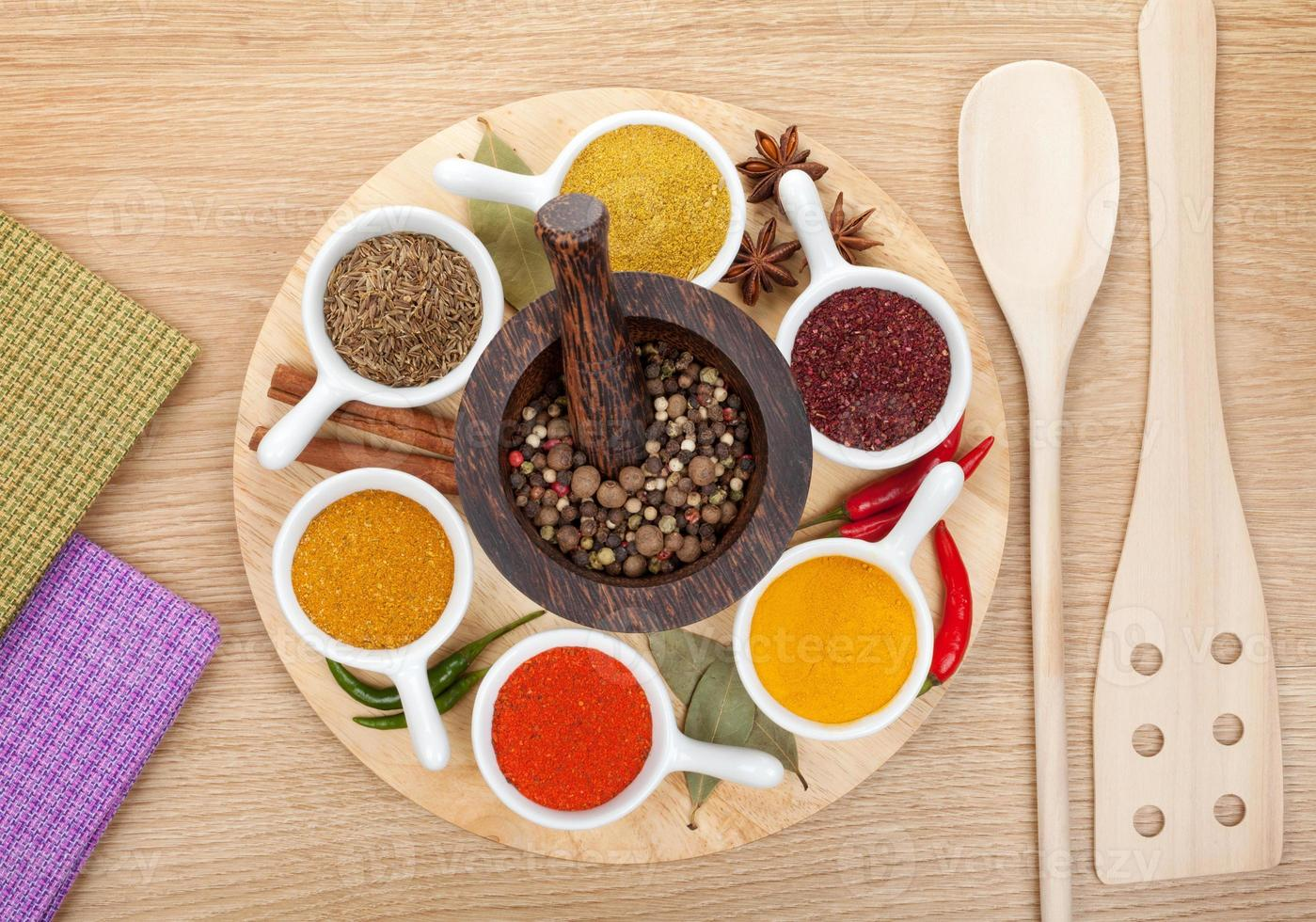 Various spices selection photo