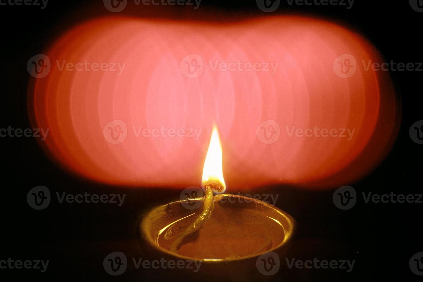 Oil Lamp in Diwali Festival, India. photo