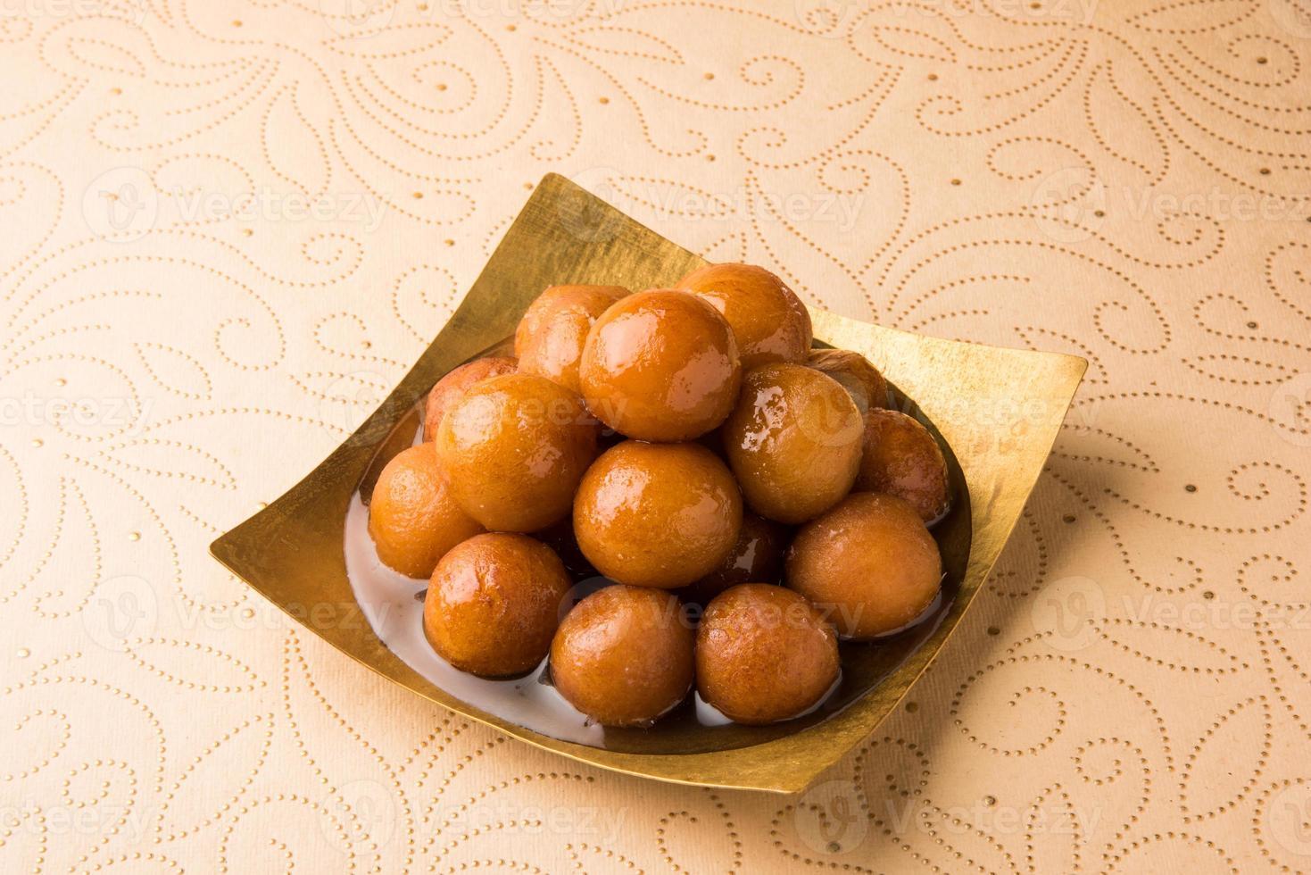 Indian Dessert Gulab Jamun Stock Photo
