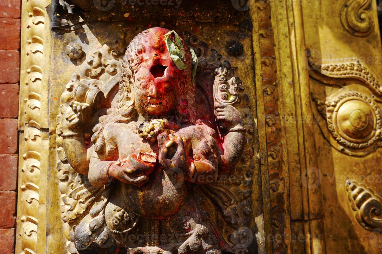 shiva dios hindú por rezar foto