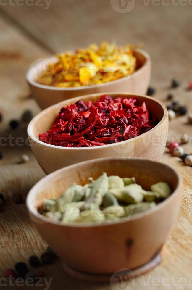 Spices on the table photo