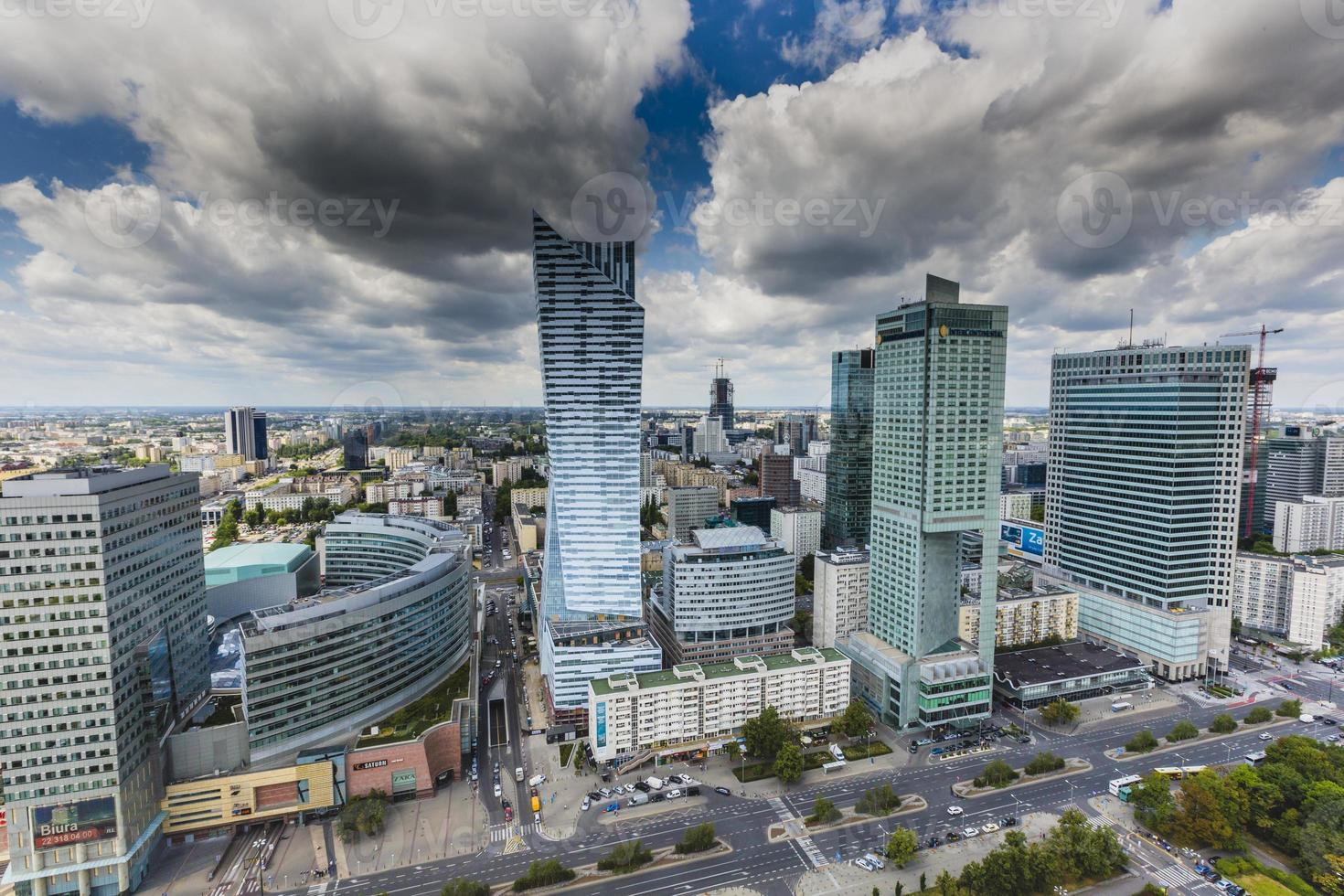 View from the observation deck in Warsaw. photo