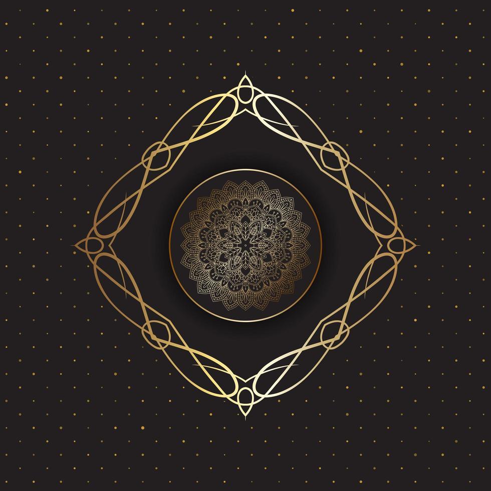 mandala decorativa de ouro vetor