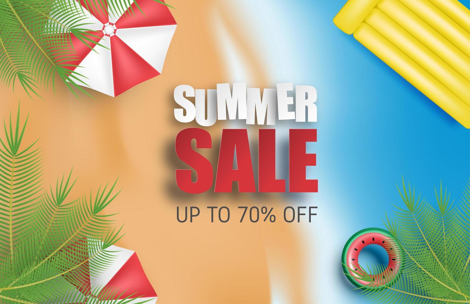 fondo di vendita di estate con l'ombrello vettore